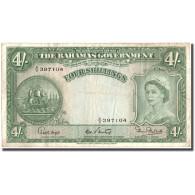 Billet, Bahamas, 4 Shillings, Undated (1923), KM:13b, TTB - Bahamas