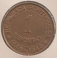 Moeda Guiné Bissau Portugal - Coin Guiné Bissau - 1 Escudo 1946 - BELA - Guinea-Bissau