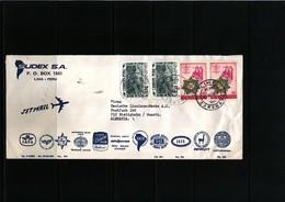Peru Interesting Airmail  Letter - Perù