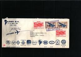 Peru Interesting Airmail Registered Letter - Peru