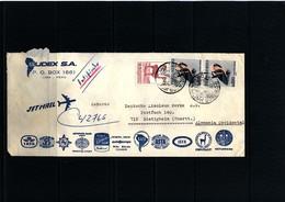 Peru Interesting Airmail Registered Letter - Perù