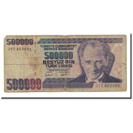 Billet, Turquie, 500,000 Lira, L.1970, KM:212, B - Turquie
