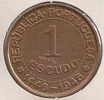 Moeda Guiné Bissau Portugal - Coin Guiné Bissau - 1 Escudo 1946 - MBC - - Guinea Bissau