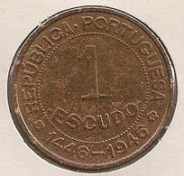 Moeda Guiné Bissau Portugal - Coin Guiné Bissau - 1 Escudo 1946 - MBC - - Guinea-Bissau