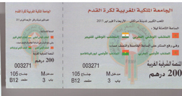 Billets Pour 2 Matches Internationaux Football Maroc - Niger Et Maroc Olympique Burkina Fasso. 2011 - Otros