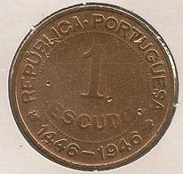 Moeda Guiné Bissau Portugal - Coin Guiné Bissau - 1 Escudo 1946 - BC - Guinea-Bissau