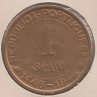 Moeda Guiné Bissau Portugal - Coin Guiné Bissau - 1 Escudo 1946 - BC - Guinea Bissau
