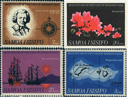 Ref. 93144 * NEW *  - SAMOA . 1968. BICENTENARY OF THE VISIT OF BOUGAINVILLE. BICENTENARIO DE LA VISITA DE BOUGAINVILLE - Samoa