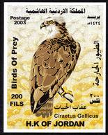 Jordan 2003 Birds Of Prey Souvenir Sheet Mounted Mint. - Jordan