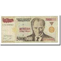 Billet, Turquie, 5,000,000 Lira, L.1970, KM:210, TB - Turkey