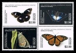 Aitutaki 2017 Mih. 992/95 National Geographic. Animals Of The World. Butterflies MNH ** - Aitutaki