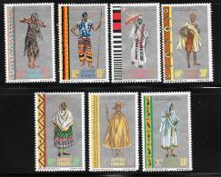 Ethiopia, Scott # 515-21 MNH Regional Costumes, 1968 - Ethiopia