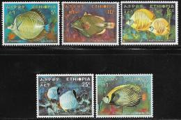 Ethiopia, Scott # 558-62 MNH Tropical Fish, 1970 - Ethiopia