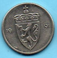 (r65)   NORGE / NORVEGE / NORWAY 50 ORE 1991 - Norvège