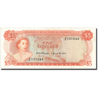 Billet, Bahamas, 5 Dollars, 1968, KM:29a, TTB - Bahamas