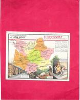 CHROMO Edition Spéciale Des Produits Du LION NOIR - LE SUD OUEST Partie Septentrionale Produits - BARA**  - - Trade Cards