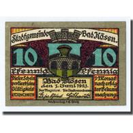 Billet, Allemagne, Kösen, Bad, 10 Pfennig, Ecusson, 1921, 1921-06-01, SPL - Other