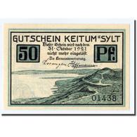 Billet, Allemagne, Keitum, 50 Pfennig, Paysage, 1921, 1921-10-31, SPL - Other