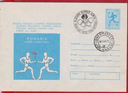 OLYMPIC GAMES MOSCOW 1980 ROMANIA POSTAL STATIONERY - Ete 1980: Moscou