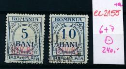 DP-Rumänien  Porto 6+7     O (ee2155  ) Siehe Scan - Besetzungen 1914-18