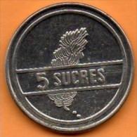 (r65)   ECUADOR / EQUATEUR   5 SUCRES 1988 - Equateur