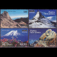 PAPUA 2002 - Scott# 1049-52 Mountains Set Of 4 MNH - Papúa Nueva Guinea
