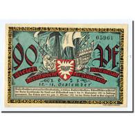 Billet, Allemagne, Kiel, 90 Pfennig, Port, 1921, 1921-09-10, SPL, Mehl:696.1 - Other
