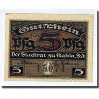 Billet, Allemagne, Kahla, 5 Pfennig, Rempart, 1920, SPL - Other