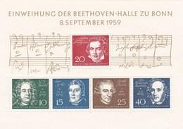 Allemagne - Bloc Feuillet 5 Timbres Neufs Einweihung Der Beethoven Halle Zu Bonn 8 September 59 - YT 188 189 190 191 192 - [7] Federal Republic