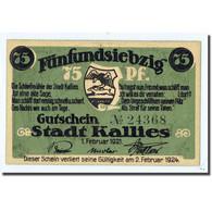 Billet, Allemagne, Kallies, 75 Pfennig, Personnage, 1921, 1921-02-01, SPL - Other