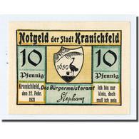Billet, Allemagne, Kranichfeld, 10 Pfennig, Ecusson, 1921, 1921-02-22, SPL - Other