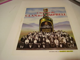 ANCIENNE PUBLICITE HERITAGE  WHISKY CLAN CAMPBELL 1982 - Alcohols