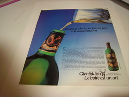 ANCIENNE PUBLICITE  LE BOIRE EST UN ART WHISKY GLENFIDDICH 1982 - Alcohols
