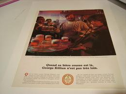 ANCIENNE PUBLICITE BIERE GEORGE KILLIAN BIERE ROUSSE 1984 - Alcohols