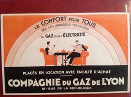 Buvard Compagnie Du Gaz De Lyon Électricité - Elektriciteit En Gas