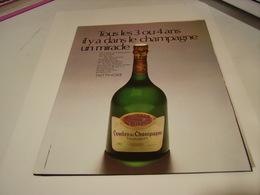 ANCIENNE PUBLICITE MIRACLE CHAMPAGNE TAITTINGER 1972 - Alcohols