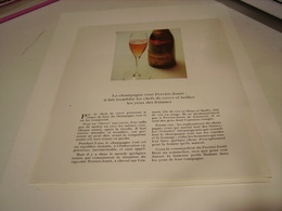 ANCIENNE PUBLICITE LE CHAMPAGNE  ROSE PERRIER - JOUET  1969 - Alcohols