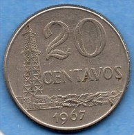 (r65)  BRASIL / BRESIL / BRAZIL  20 CENTAVOS 1967 - Brasil