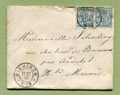 DIEKIRCH  1890  Pour  ANDELOT - 1882 Allégorie
