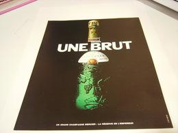 ANCIENNE PUBLICITE UNE BRUT  CHAMPAGE MERCIER 1983 - Alcohols