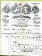 """MULHOUSE  (1869) : """" USINE DE TAGOLSHEIM - FERS, METAUX & QUINCAILLERIE """" - France"""