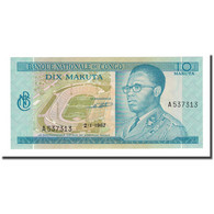 Billet, Congo Democratic Republic, 10 Makuta, 1967-01-02, KM:9a, NEUF - Congo