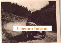 Chromo Cigarettes Du GLOBE DF - Automobiles De Course : THOMAS Sur DELAGE -  Scans Recto-verso - Other Brands