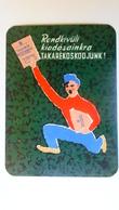 W505.15  Old Pocket Calendar - Hungary -OTP  1957  -RARE OLD ITEM - Calendars