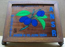 MIROIR CLUB DES SUPPORTERS DU S.U.A. IV CONGRES AGEN 9-10 JUIN 1984 ANSR ( PRUNEAU PRUNEAUX ) ( RUGBY ? ) - Mirrors
