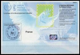 ST. PIERRE ET MIQUELON (FR) Is40  20170802 AA  Intern. Reply Coupon Reponse Antwortschein IAS IRC Hologram O SPM 16.5.18 - Ganzsachen