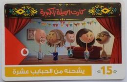 EGYPT - Family  Card 15 L.E, Vodafone , [used] (Egypte) (Egitto) (Ägypten) (Egipto) (Egypten) - Egipto