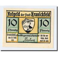 Billet, Allemagne, Kranichfeld, 10 Pfennig, Paysage, 1921, 1921-02-22, SPL - Other