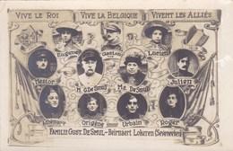 Unieke Fotokaart Familie Gust De Smul-Beirnaert, Lokeren, Seveneeken, Zeveneken. WO1, 1914-1918 (pk49593) - Lokeren