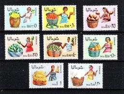 Somalia  - 1968. Oranges, Lemons, Coconuts, Avocados, Watermelons, Bananas, Cotton, Grapefruits. Complete MNH Set - Fruits